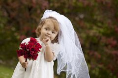 Little Bride Stock Images