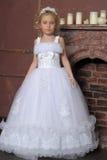 Little bride. Little girl in wedding dress Royalty Free Stock Photos