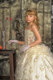 Little bride with tiara Royalty Free Stock Photos