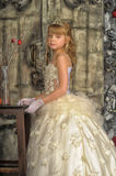 Little bride with tiara Stock Images