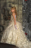 Little bride with tiara Royalty Free Stock Photography
