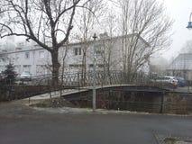 Little bridge stock photos