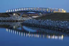 Little bridge by the Lakefront in Milwaukee Stock Photography
