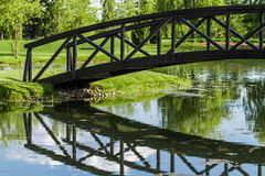 Little Bridge Over a Pond Royalty Free Stock Photos