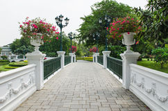 Little bridge in the park Stock Photos