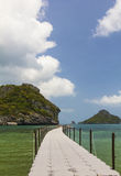 Little Bridge in the sea in Mu Ko Ang Thong Royalty Free Stock Photo