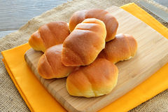 Little brioches. Soft and sweet little brioches made with milk,butter,eggs and sugar Stock Photos