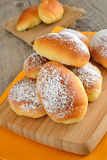 Little brioches. Soft and sweet little brioches made with milk,butter,eggs and sugar Royalty Free Stock Photography