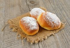 Little brioches. Soft and sweet little brioches made with milk,butter,eggs and sugar Stock Photography