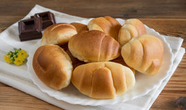 Little brioches. Soft and sweet little brioches made with milk,butter,eggs and sugar Royalty Free Stock Image