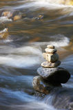 Little brook with rocks. Little brook with many stones and rocks Royalty Free Stock Images