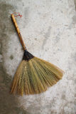 Little broom. The little broom is handicraft from folk wisdom.Use for cleaning dust on anything except floor Stock Image