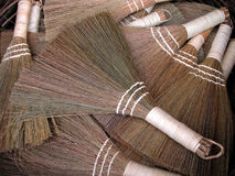 Little brooms. Some little wattle brooms in  Japanese market Stock Image