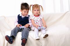 Little brother and sister Stock Photography
