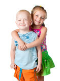 Little brother and sister Royalty Free Stock Image