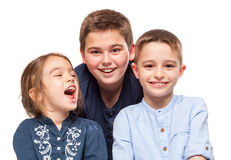 Little Brothers Smiling stock photography