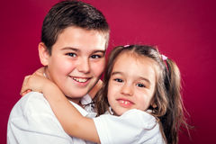 Little Brothers Smiling Stock Photos