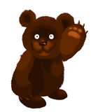 Little brown bear character cartoon style  illustration Royalty Free Stock Photo