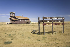 Little Brown Church on the Prairie Royalty Free Stock Photography