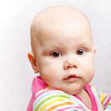 Little brown eyed Caucasian baby Royalty Free Stock Photography