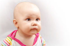 Little brown eyed Caucasian baby Royalty Free Stock Images