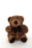 Little Brown Teddy Bear. Shot isolated on white stock photos