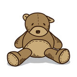 Little brown teddy bear Stock Images