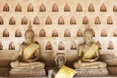 Little Buddha Scuptures in Wat Sisaket Stock Photo