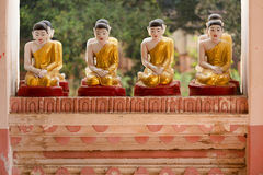 Little Buddha statues in Myanmar Royalty Free Stock Image