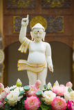 Little Buddha. In Tample Nan Thailand Stock Photo