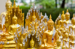 Little Buddhas. Little Buddha's image selling in the temple of Thailand for people to worship at home Royalty Free Stock Photos