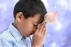 Little buddhist boy Royalty Free Stock Image