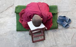 A little Buddhist monk Stock Image
