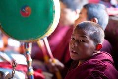 Little buddhist monk royalty free stock photo