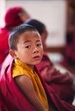 Little buddhist monk stock photography