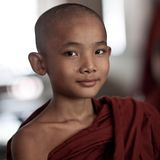 Little Buddhist monk Stock Image