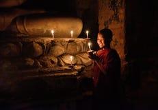 Little Buddhist monk royalty free stock photography