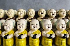 Little buddhist monk dolls Stock Photo
