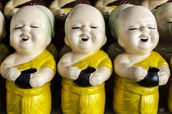 Little buddhist monk dolls Stock Photo