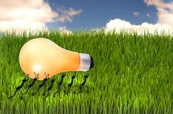 Little bugs carring Lightbulb. Stock Image