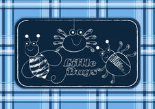 Little bugs. Vector illustrations of hand drawn bugs Stock Photography