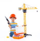 Little builder. Royalty Free Stock Images