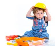 Little builder. Stock Photo