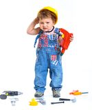 Little builder. Stock Photos