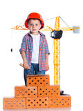 Little builder boy Royalty Free Stock Image