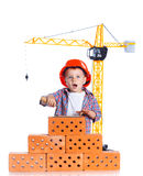 Little builder boy Royalty Free Stock Photos