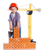 Little builder boy Stock Photography