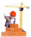 Little builder boy Royalty Free Stock Photos