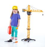 Little builder. Royalty Free Stock Photos