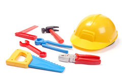 Little builder's tools Royalty Free Stock Images